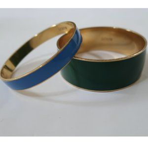 J CREW 2 enamel bangle bracelets